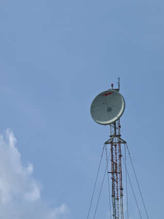 antena tower on blue  sky background-It is public domain, no restrict in copy of use