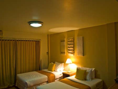 bedroom interior design with warm light Stock Photo - 17838970