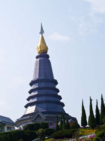 Phra Mahathat Napapolphumisiri temple on Doi Intanon mountain, Chiang Mai, Thailand  photo