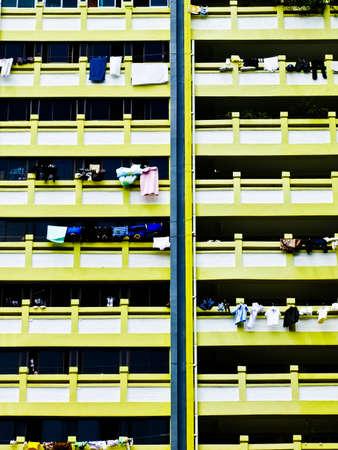 Singapore public housing apartment block Stock Photo