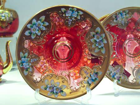Antique glass dinner plate