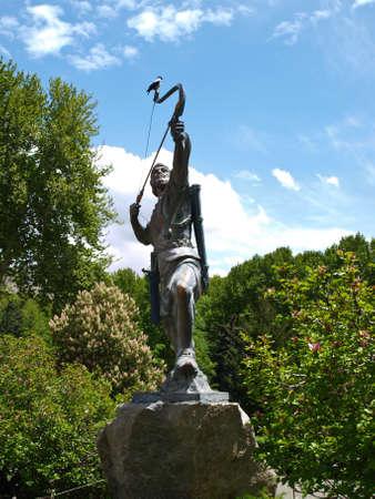Statue of an archer in Tehran, Iran