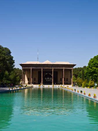 Chehel Sotoun Sotoon Palace built by Shah Abbas II, Esfahan , Isfahan, Iran Stock Photo