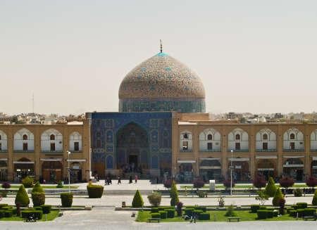 Sheikh Lotf Allah Mosque at Naqsh-e Jahan Square in Isfahan, Iran photo