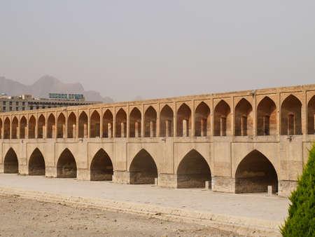 verdi: Isfahan, Iran- May 9-33 pol Allah Verdi Khan bridge in Isfahan, Iran in the morning in May 9 2011  Stock Photo