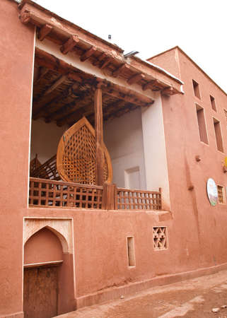 mud house: Ancient building in zoroastrian village in Abyaneh, Iran Stock Photo