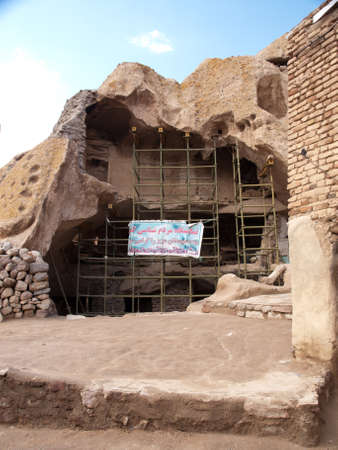 contruction: Contruction site in Kandovan village in Tabriz, Iran