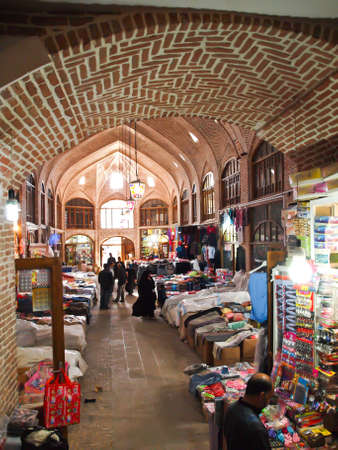 TABRIZ, IRAN - May 2  Interior of Tabriz bazaar on May 2, 2011 in Tabriz, Iran  Bazaar of Tabriz was inscribed by in July 2010
