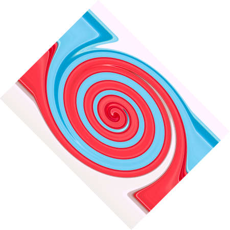 Light blue and pink twirling strips abstract background