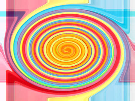 Colorful twirling strip abstract background Stock Photo