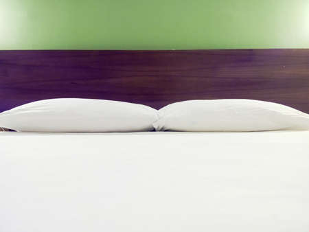 king size: Modern double bedroom with king size bed and bedside tables Stock Photo