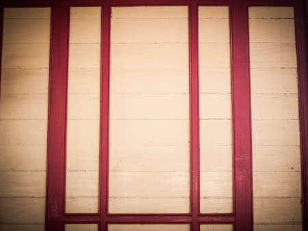 cream and red wooden panel in retro style