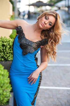 Beautiful sensual woman  Portrait of beautiful sensual woman with elegant hairstyle photo