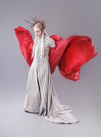 period costume: Troll. Thranduil, The Hobbit. Model dressed as elves.