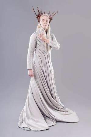 Troll. Thranduil, The Hobbit. Model dressed as elves.