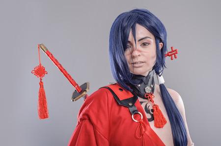 Samurai. Models dressed in their favorite heroes photo
