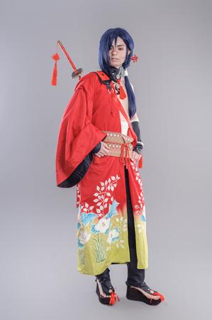 Samurai. Models dressed in their favorite heroes Reklamní fotografie