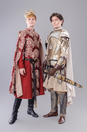 Game of thrones. Models dressed in their favorite heroes. Фото со стока