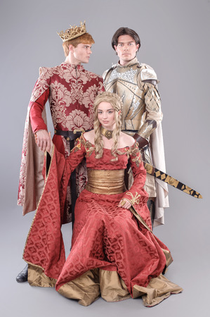Game of thrones. Models dressed in their favorite heroes. Stock Photo