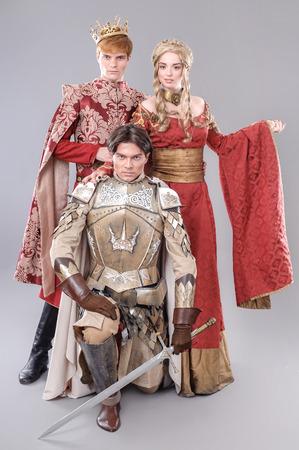 Models dressed in their favorite heroes.