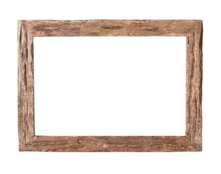 ��wood frame�: Wooden Frame.  Rustic wood frame isolated on the white background with clipping path