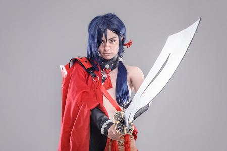 cosplay: Samurai.  Models dressed in their favorite heroes