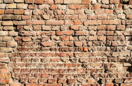 old brick wall: Brick wall. Old brick wall texture background