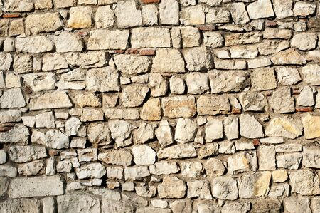 rock wall: Stone Rock Wall.  Texture of old rock wall for background