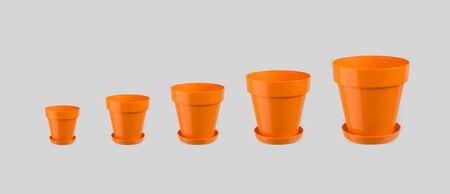 flowerpots: Empty flowerpots - different sizes