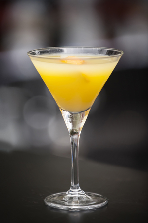 Fresh cocktail alcohol drink in night bar Stock Photo