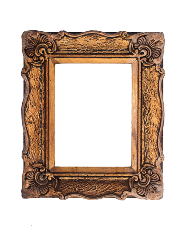 Ornate Golden Baroque Frame Isolated On The White Background ...