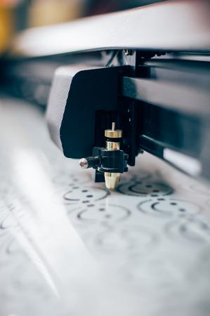 Print shop equipment. Close up Stock Photo