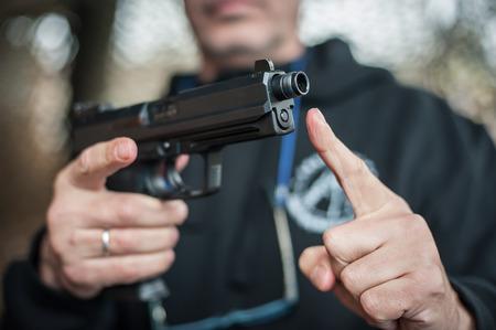 Gun Silencer. Sound suppressor for reduces the sound intensity of handgun and pistol