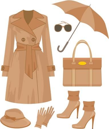 designer bag: Conjunto de moda de oto�o. no degradado
