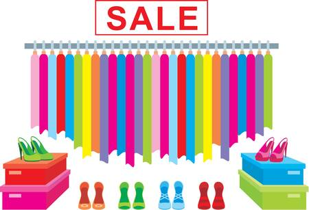 Clothes and footwear sale.  Stock Vector - 10831711