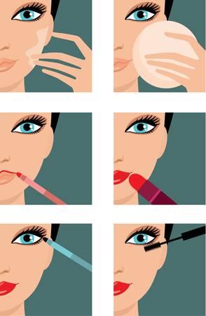 Makeup icons. Vetores