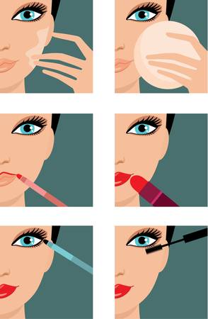 Makeup icons.  Vector