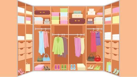 Wardrobe room.  Vector