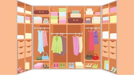 Wardrobe room. Stock Vector - 10831719