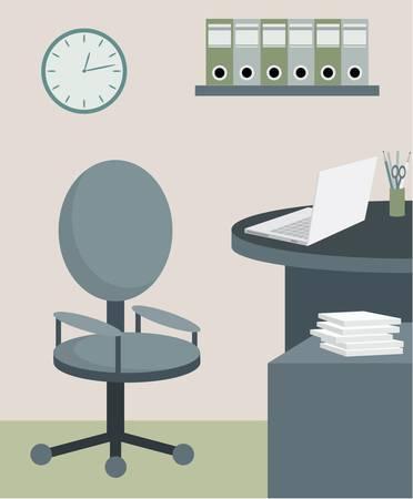 mobilier bureau: Mobilier de bureau. Illustration