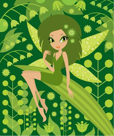 Fairy on a white background. Stock Vector - 10831733