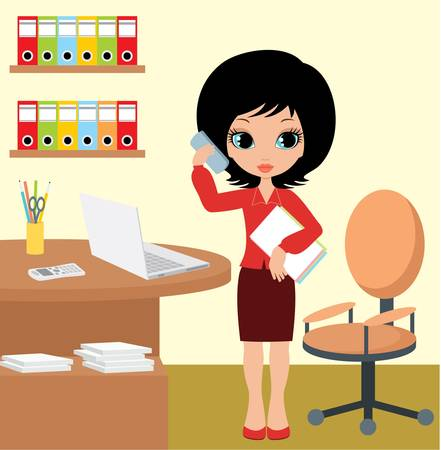 Pretty girl - business woman Stock Vector - 10945359