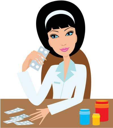 doctor tablet: Medical doctor woman