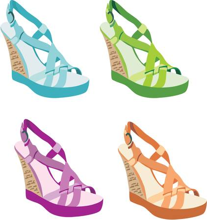 Females sandals Stock Vector - 11113159