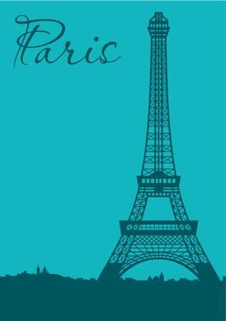 Paris. Card Stock Vector - 11113158