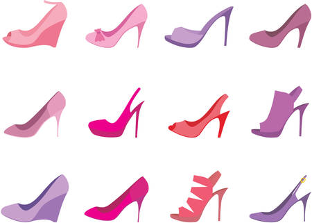 Shoes female Vector