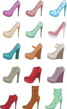 platforms: Female shoes set