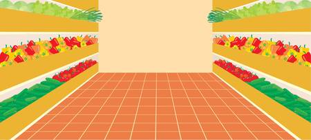 Supermarket. A vegetable number Vector