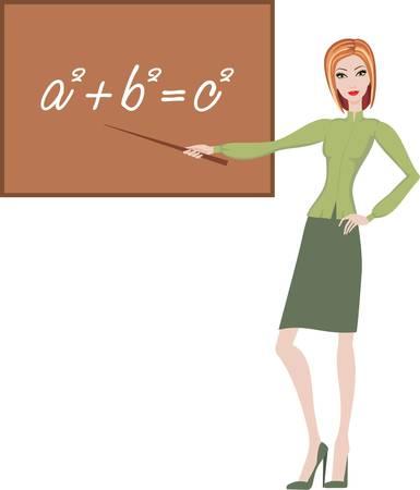Teacher explains the theorem Vector