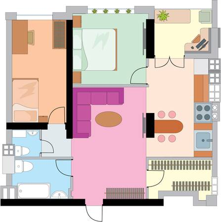 office plan: Apartment drawing